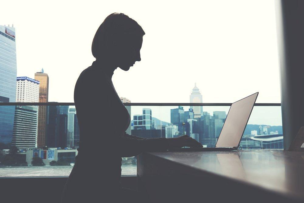 Woman working on capital budgeting