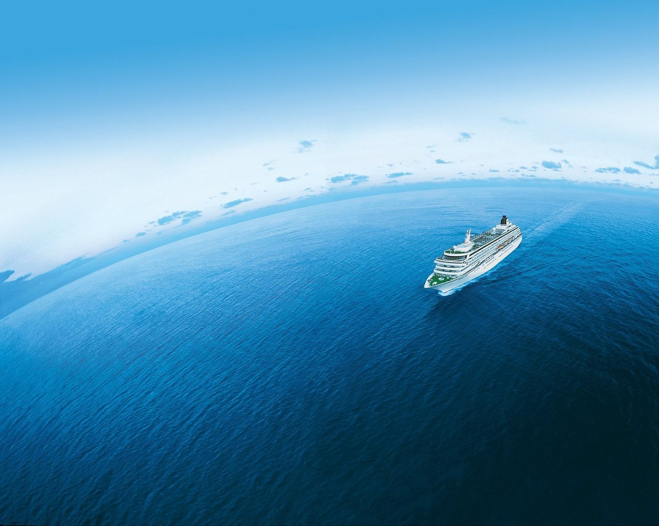 Crystal Cruises Ship in Open Ocean