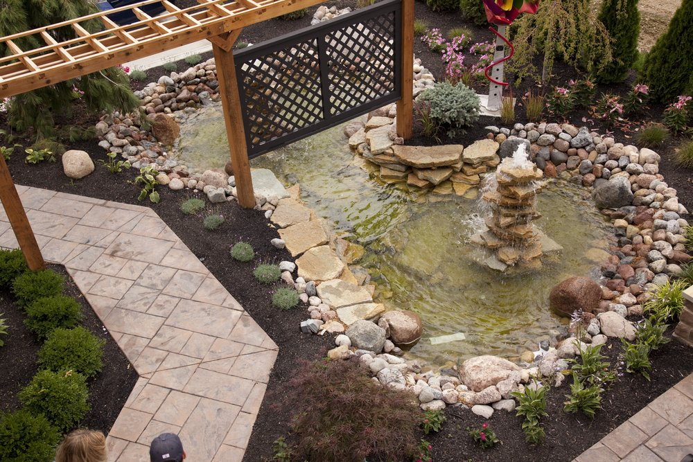 Backyard Rock Fountain