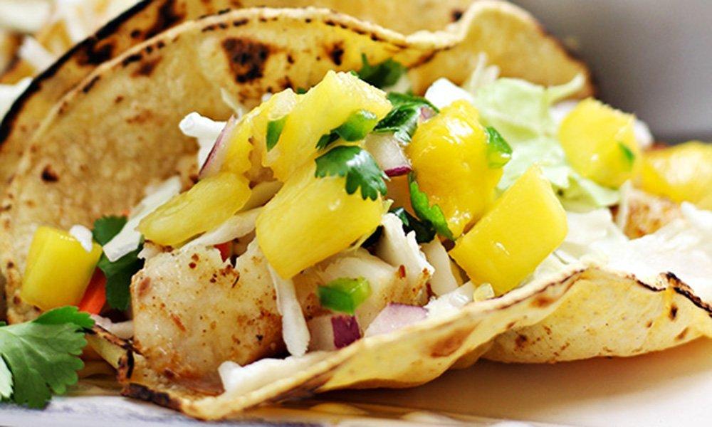 Baked Tilapia Fish Tacos with Homemade Guacamole