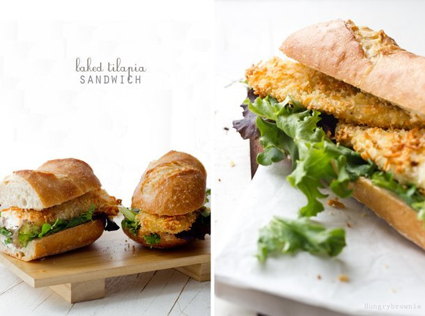 Baked Tilapia Sandwich Kid Friendly Seafood