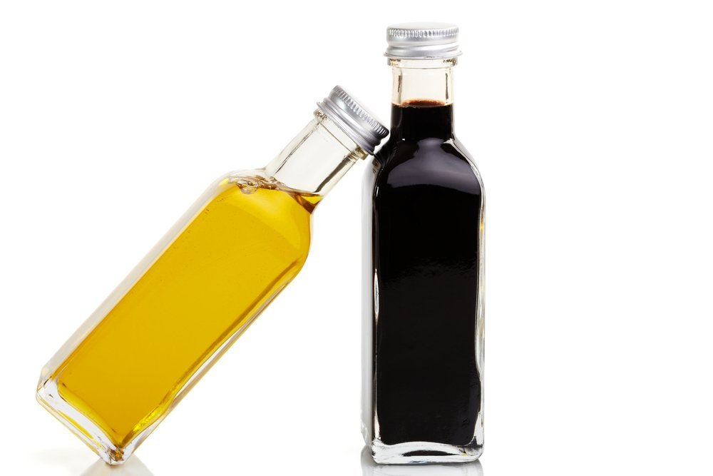 bottles balsamic vinegar