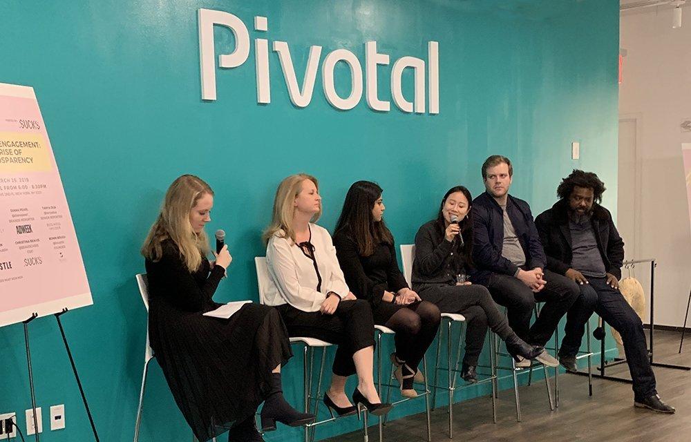 .SUCKS Brandsparency panel at Pivotal