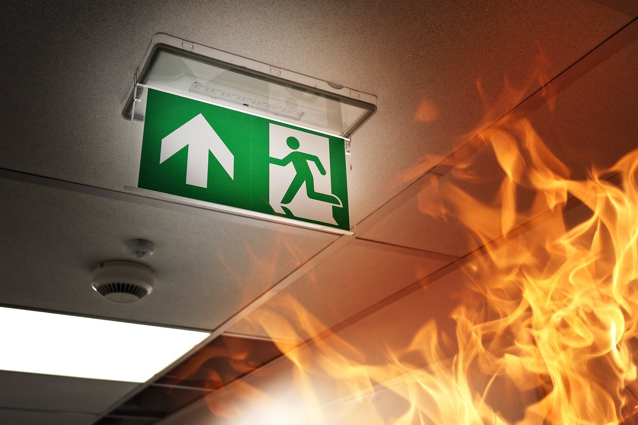 Fire evacuation plan