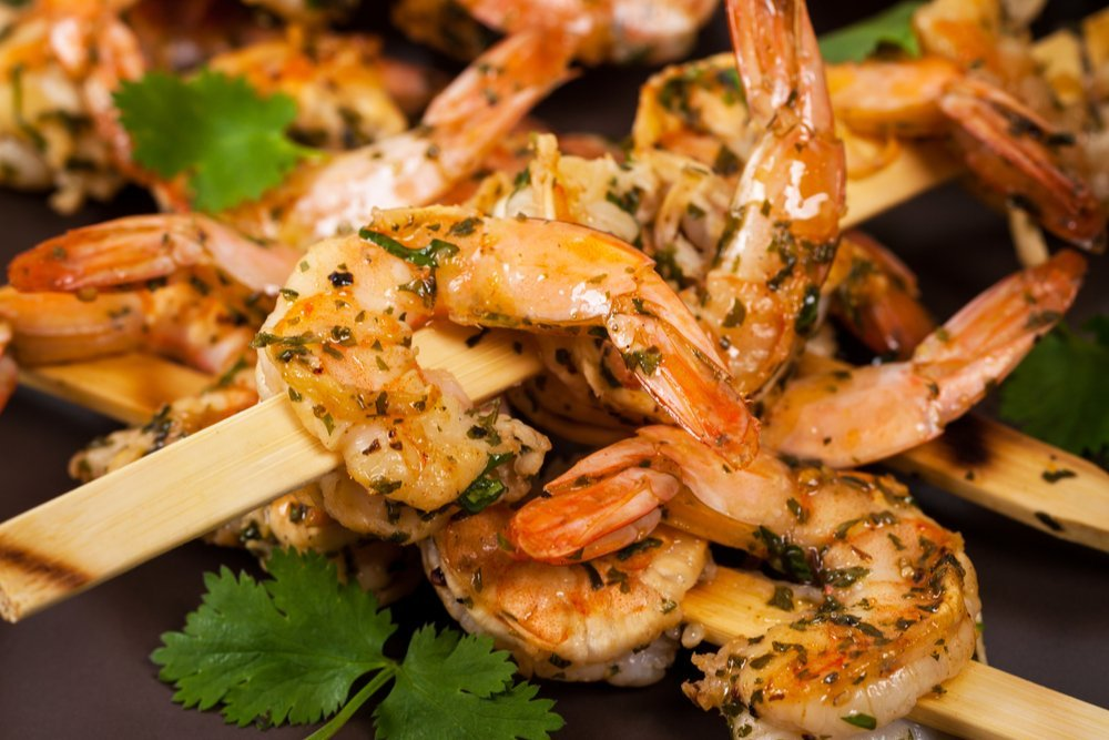 Grilled Garlic Cajun Shrimp Skewers
