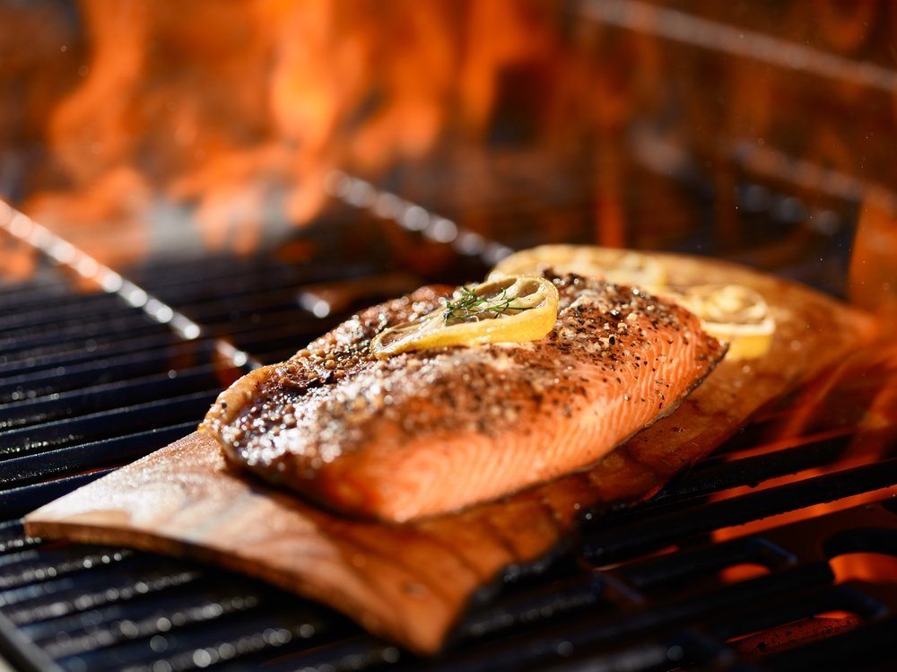 cooking fish on a cedar plank technique