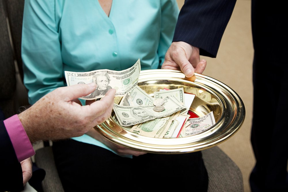 Church Collection Plate Donations