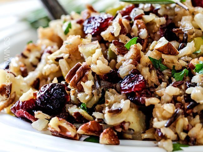 Cranberry Apple Pecan Rice Pilaf Side