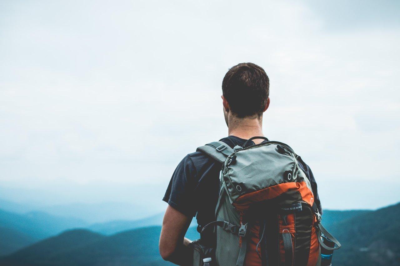 digital nomad with backpack