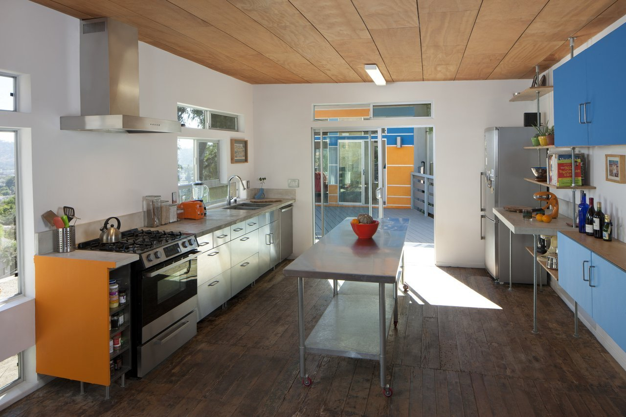 Environmentally friendly appliances in kitchen space