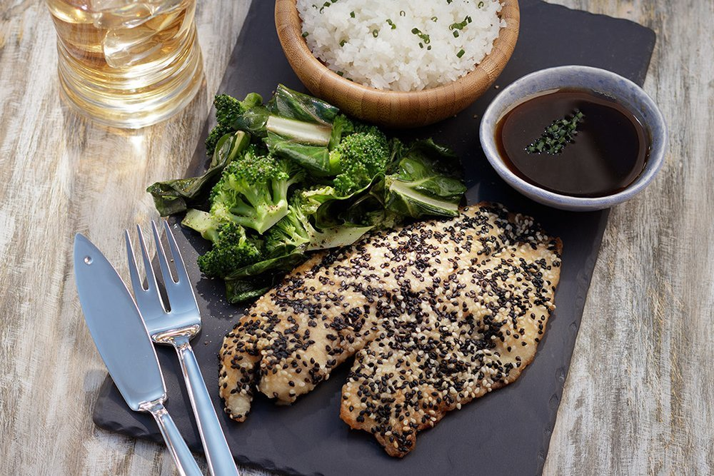 Sesame Crusted Tilapia dish by Regal Springs