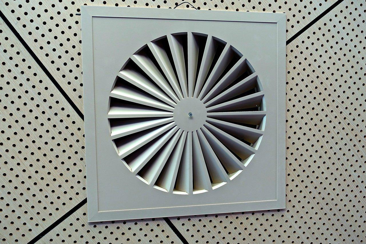 HVAC system exhaust fan