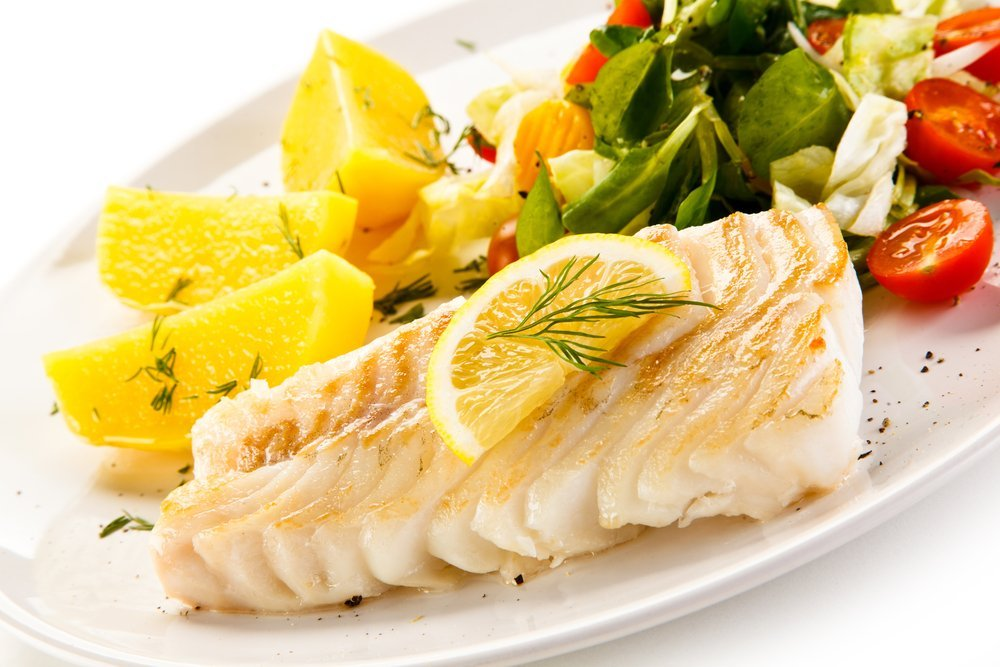 Fish dish with low trans and saturated fats