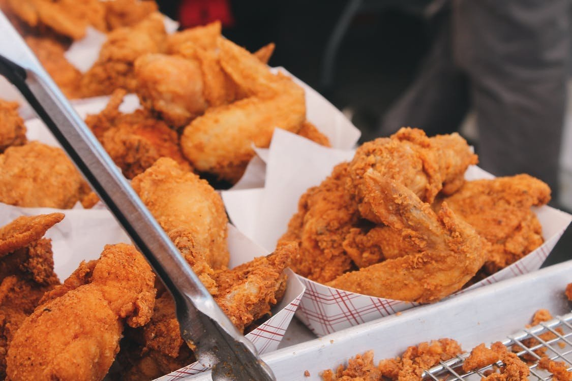 Fried food with saturated fat