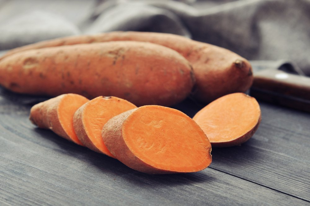 Sweet potatoes offer energy in the form of starches whilst also offering essential vitamins and minerals.