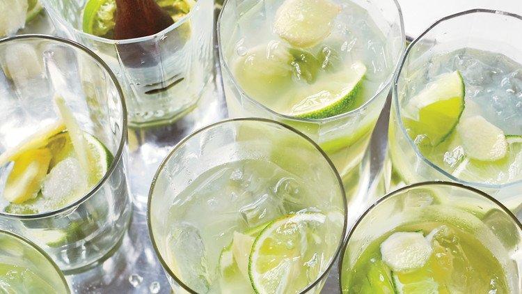 Ginger Caipirinhas Holiday Cocktail