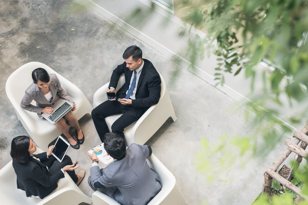 Have meetings outdoors for a natural vibe