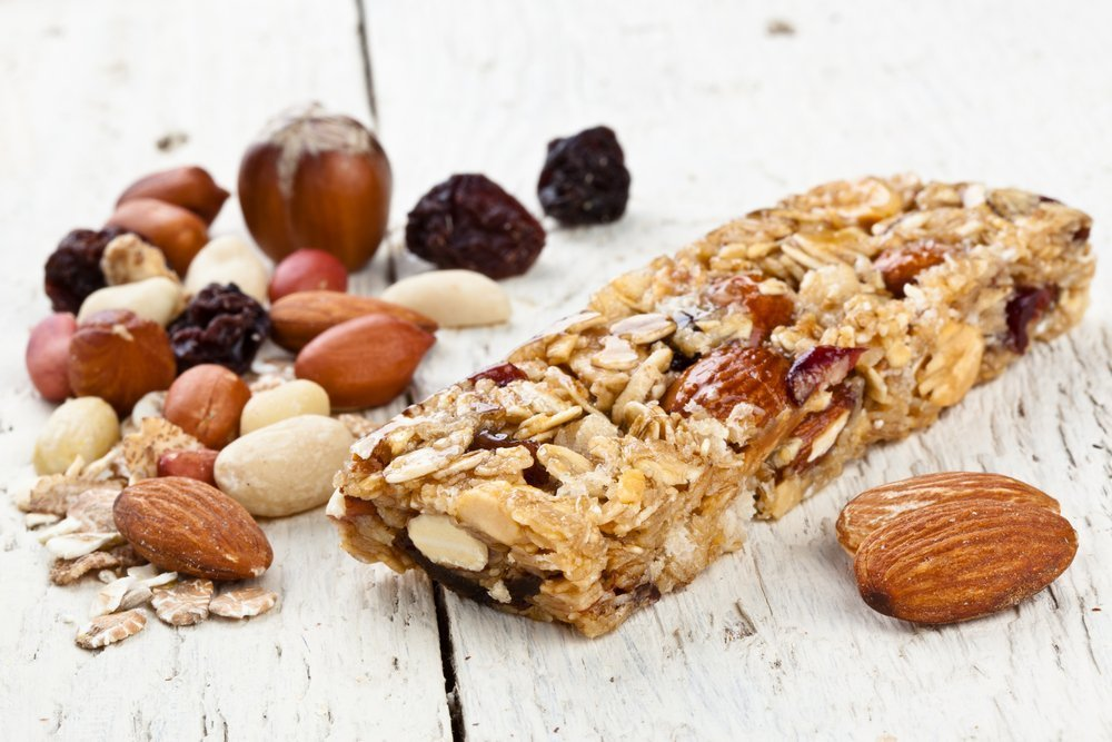 granola bar and nuts