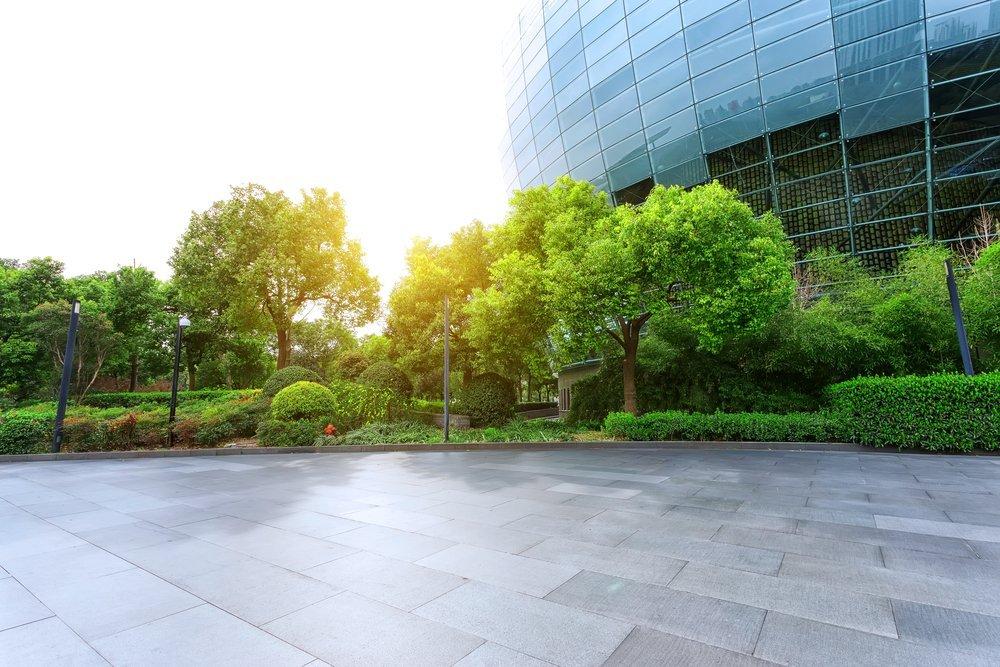 A green modern building