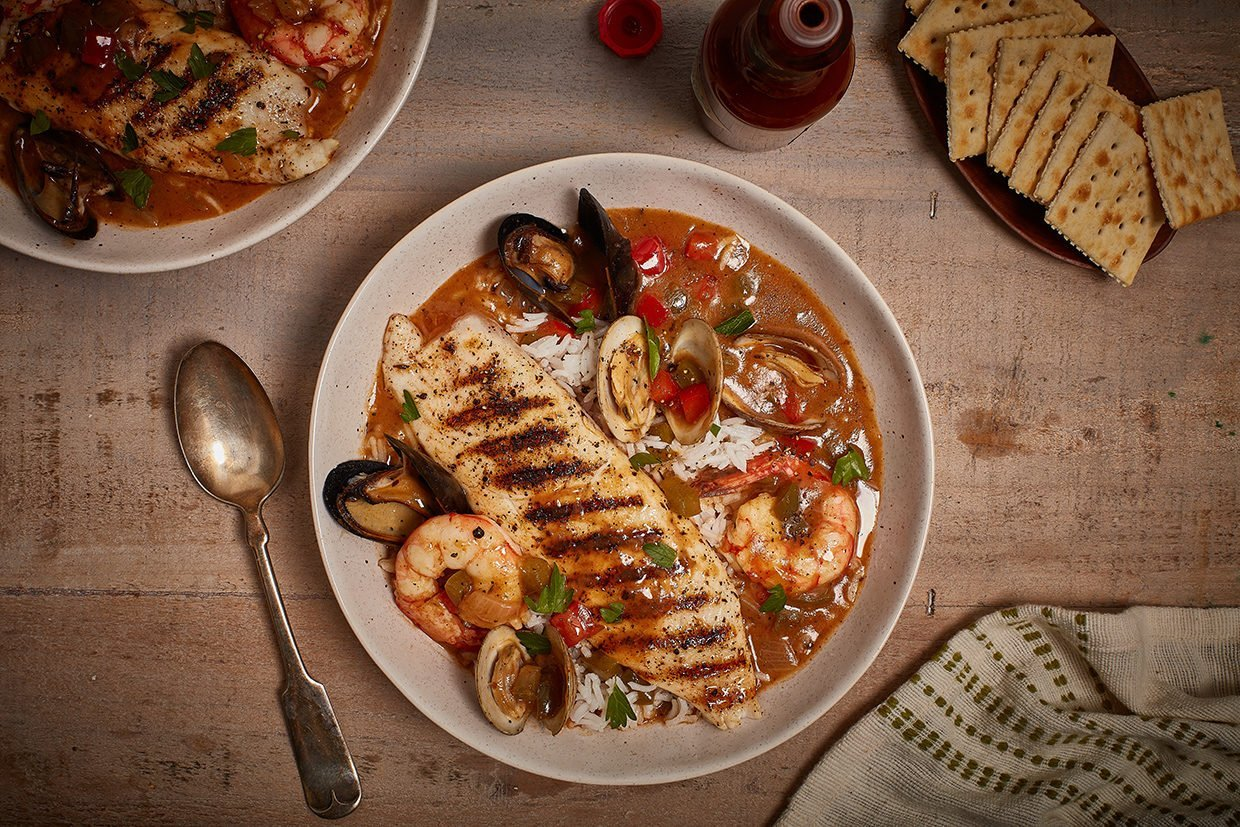 Grilled Gumbo Barbecue Tilapia Recipe