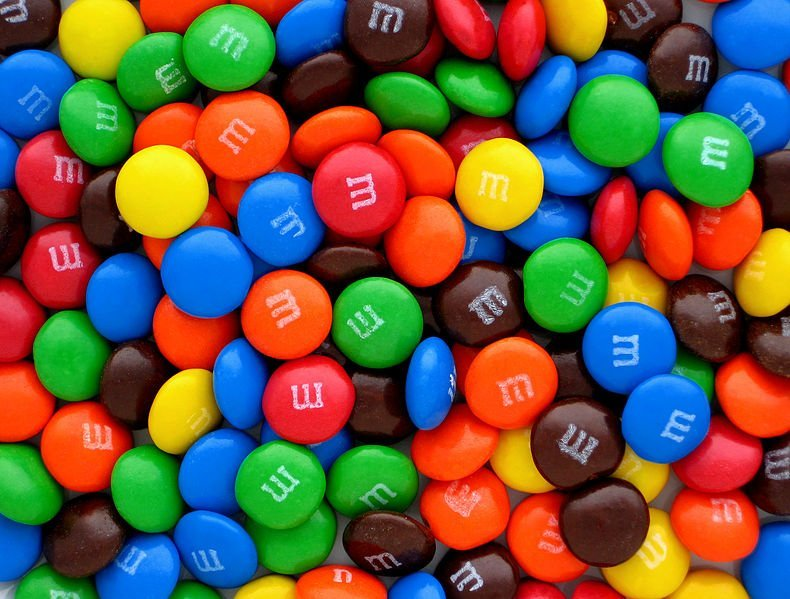 Pile of M&Ms