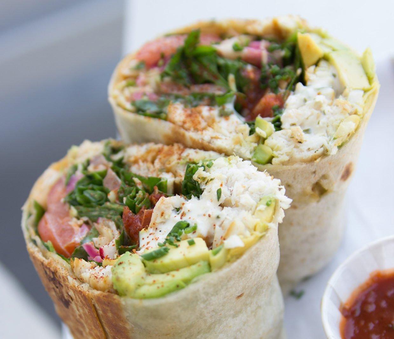 Tilapia burrito with lean protein