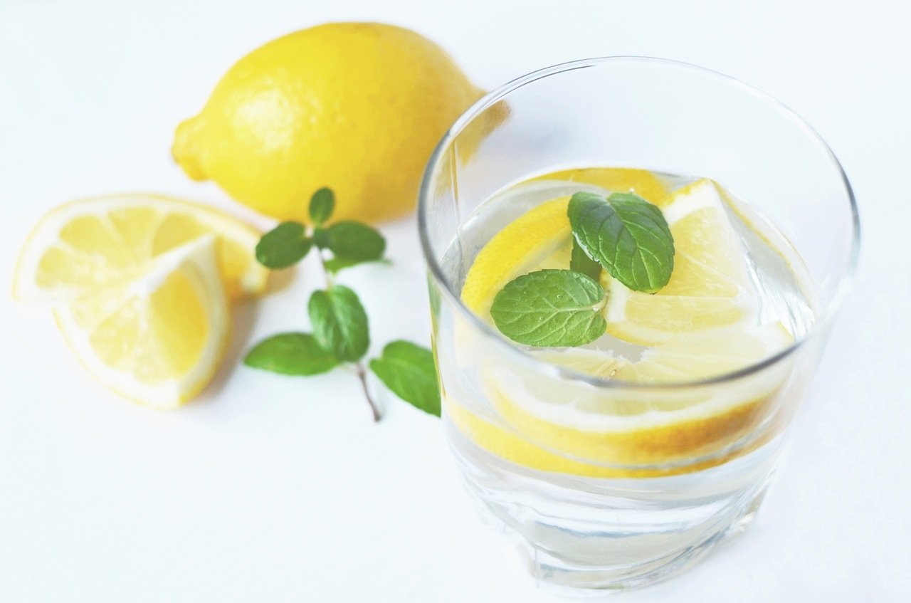 lemons water healthy fruit