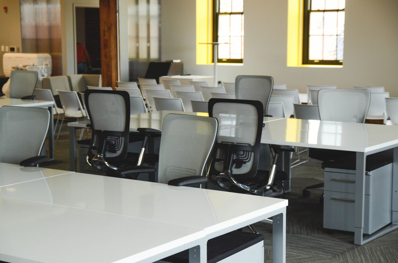 ergonomic chairs in an office