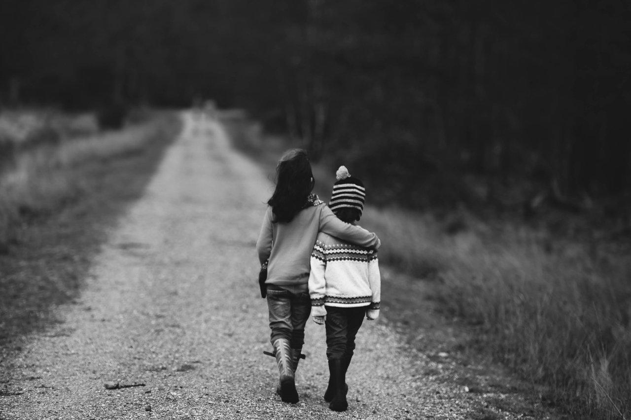 Childhood Trauma Children Walking Together Support