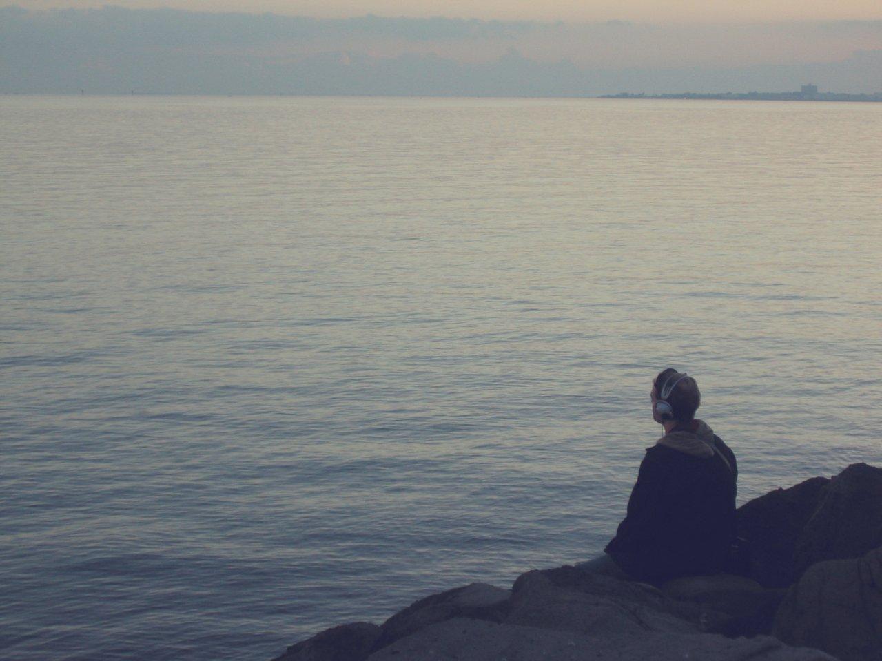 Teen Looking at Ocean