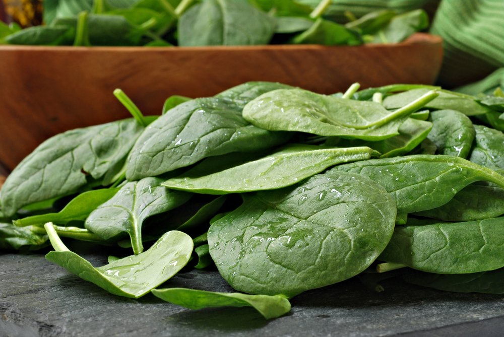 spinach leafy green stress reduction