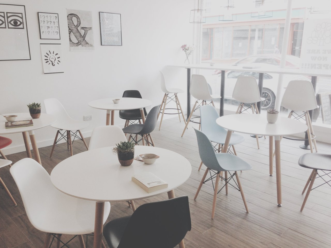 coffee shop working space