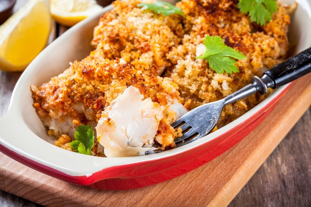 Baked crusted Tilapia fillet