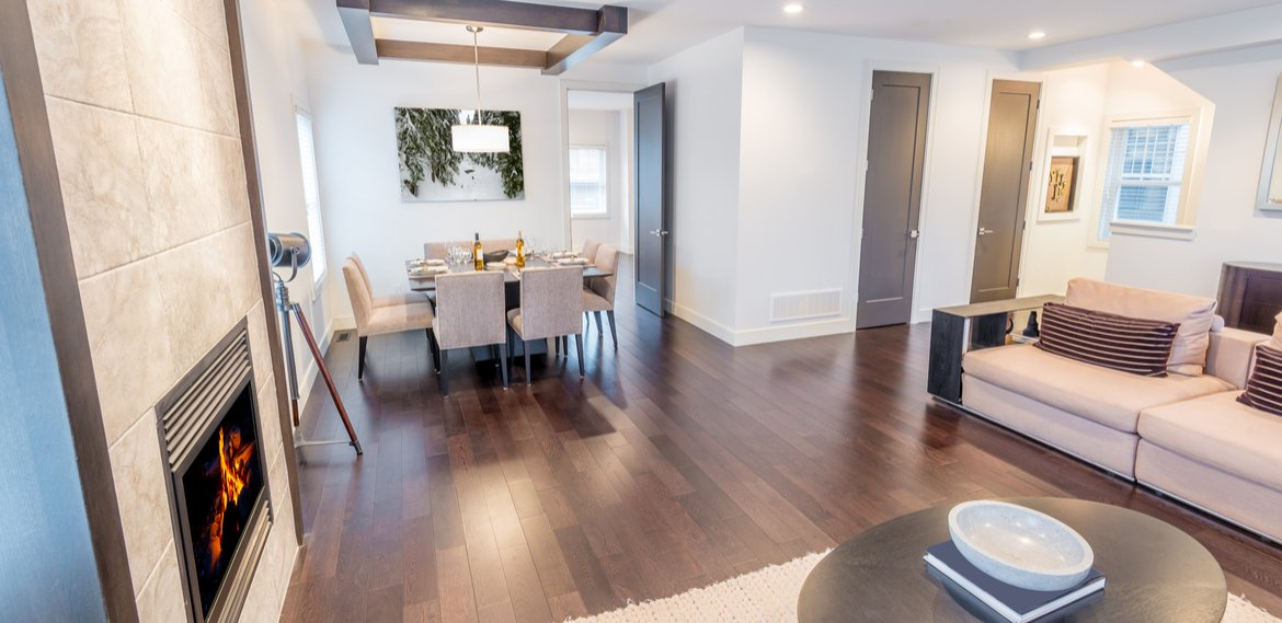 beautiful hardwood floors condo