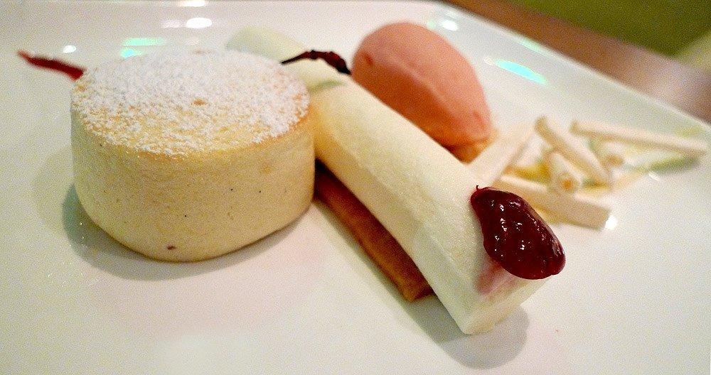 cheesecake at Morimoto Waikiki