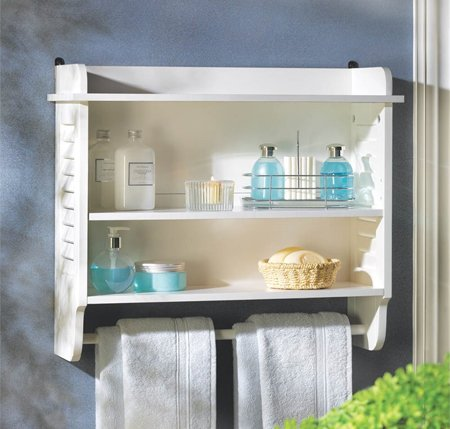 Nantucket Wall Shelf - Medicine Cabinet - Bathroom Ideas