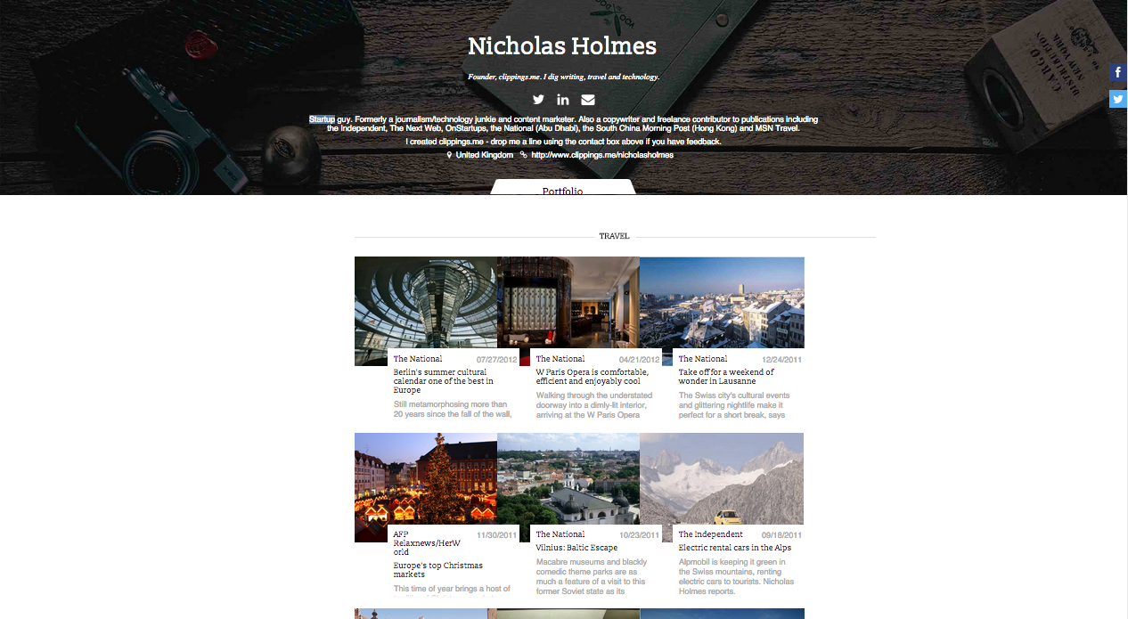 Examples of freelance writers websites