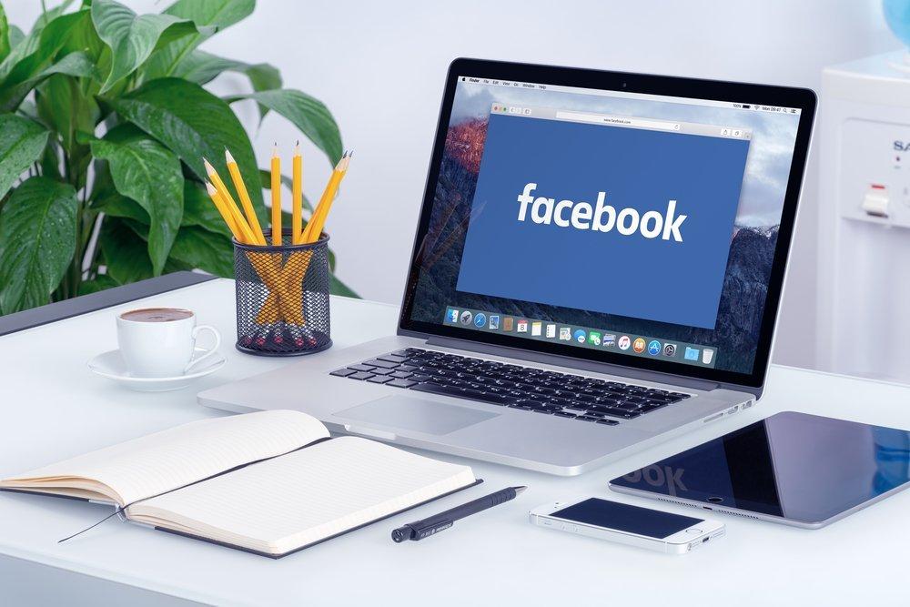Laptop on Facebook