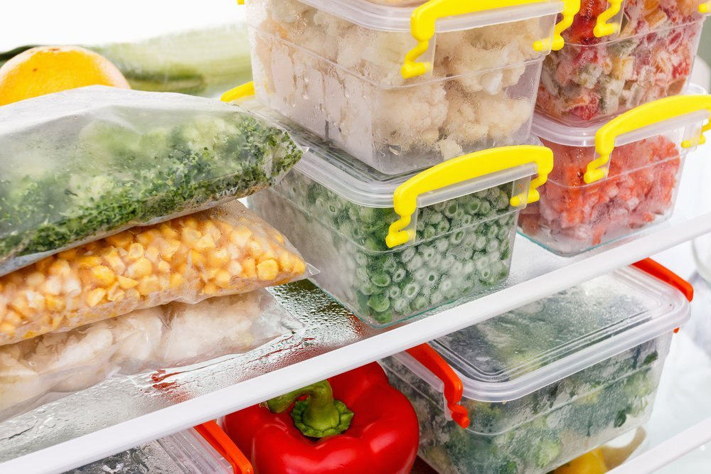 Frozen meal prep to limit food waste
