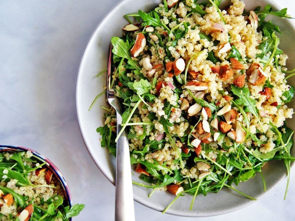 Quinoa Arugula Salad Under 500 Calories