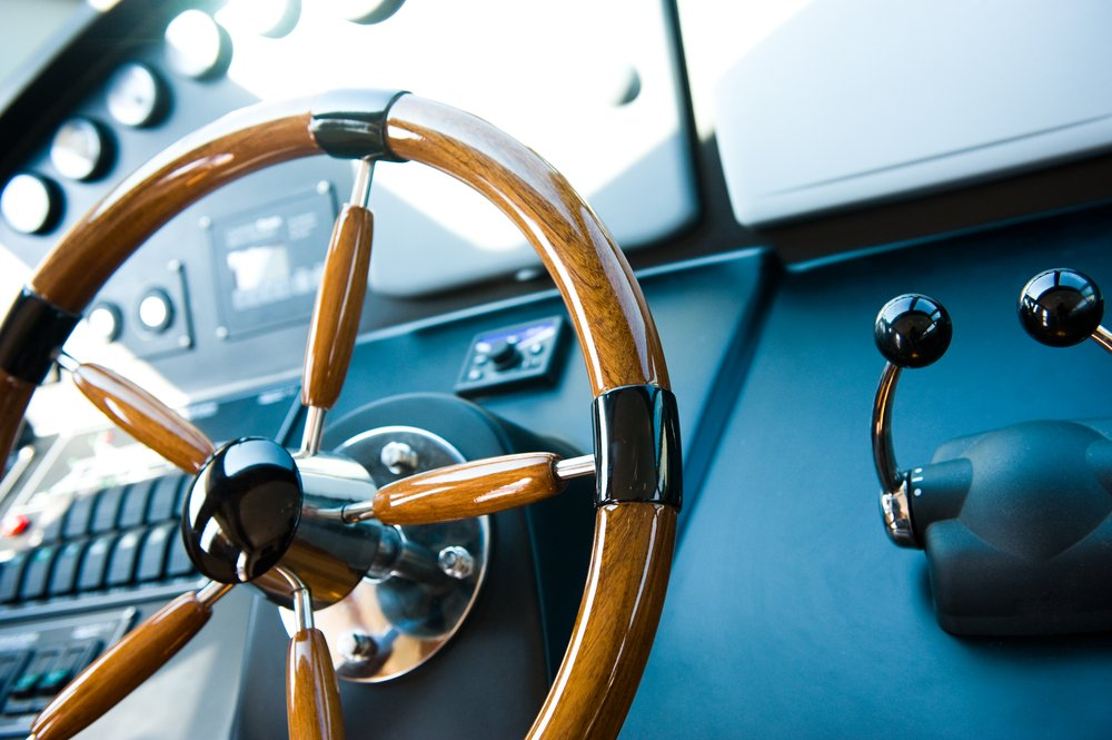 Luxury Yacht Stearing Wheel