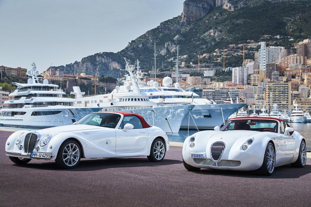 Vintage luxury cars Mitsuoka Himiko and Weissmann in Monaco