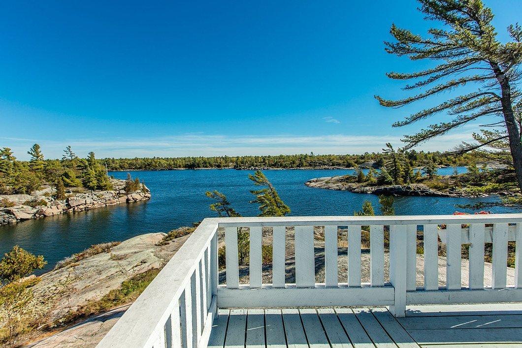 View from Bigwood Island Lodge in Archipelago