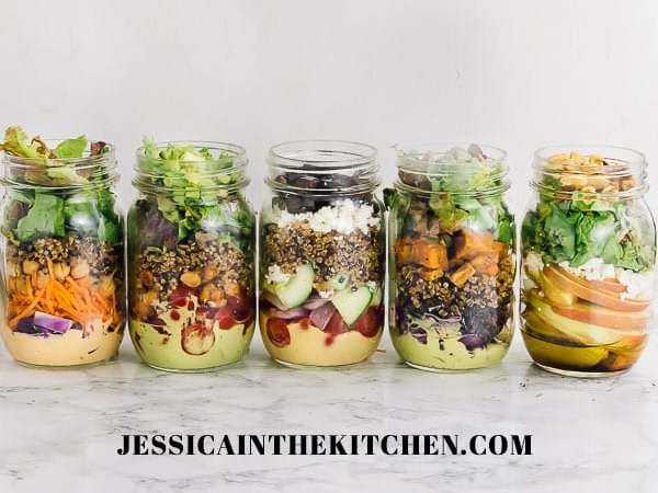 Make Ahead Mason Jar Salad Prep