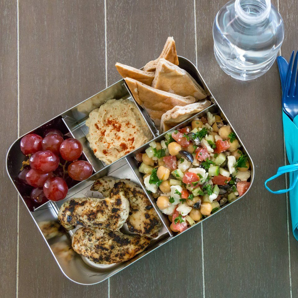 Mediterranean bento box for lunch