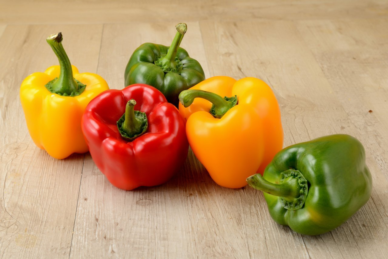 colorful bell peppers mediterranean diet foods