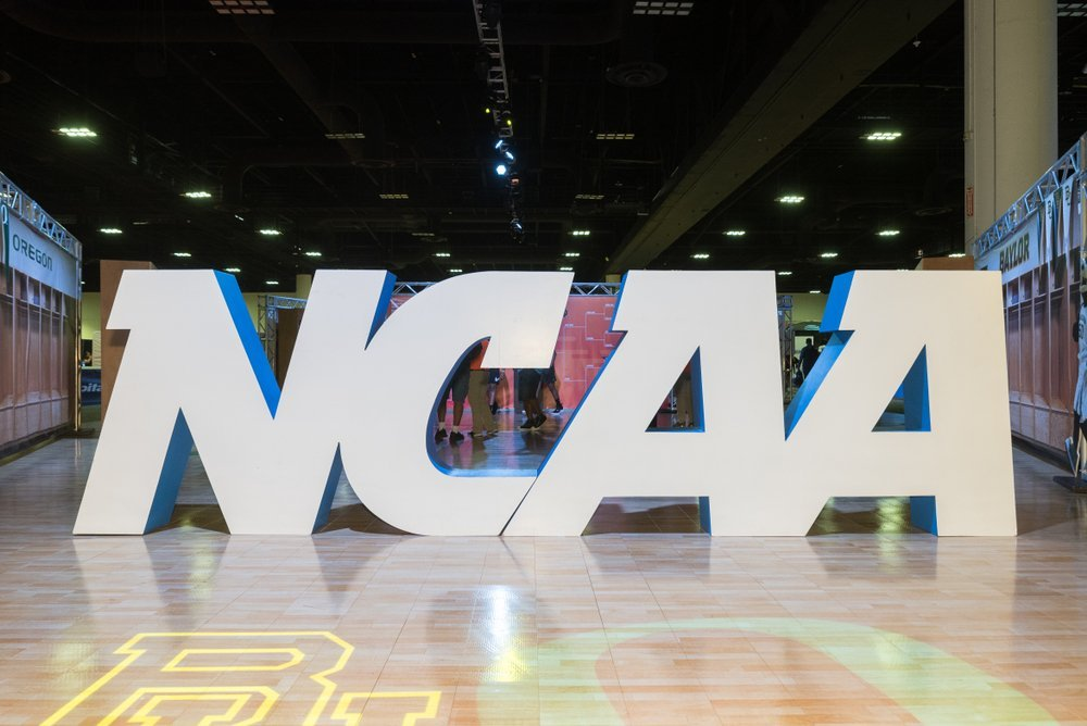 NCAA Sign displayed at athletic center