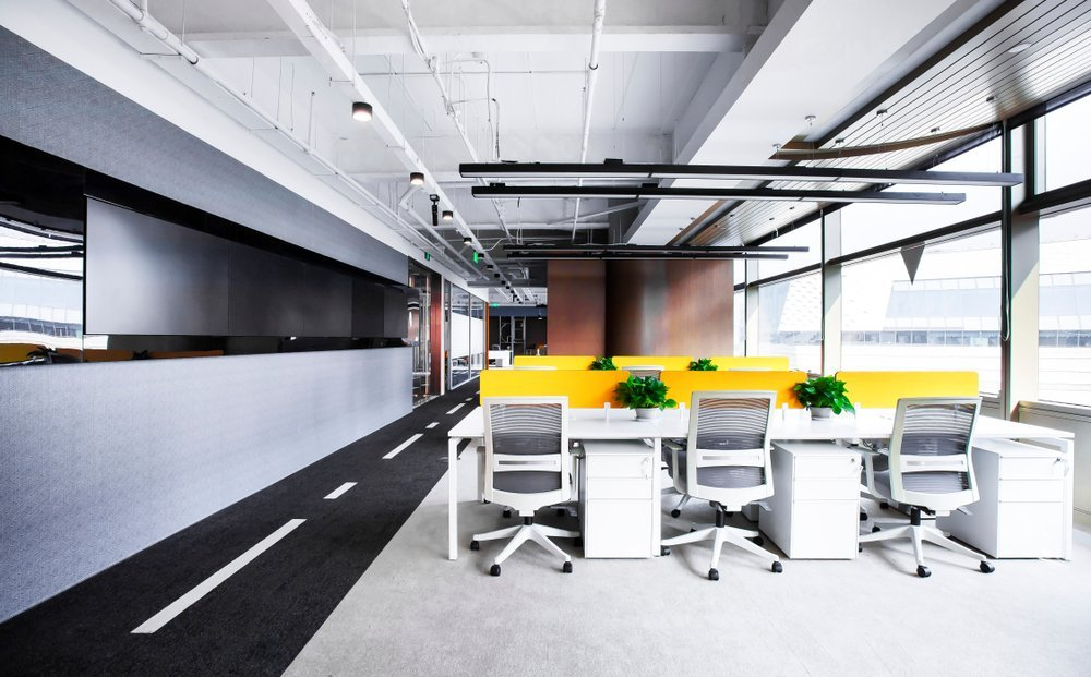 Bright and colorful designed office space