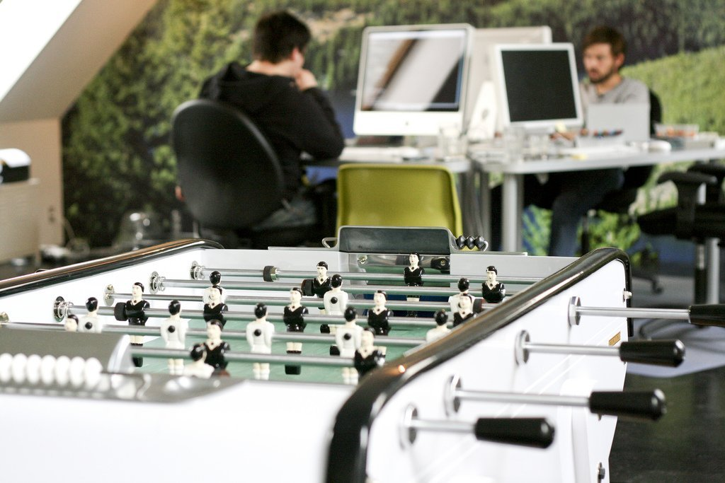 office working foosball