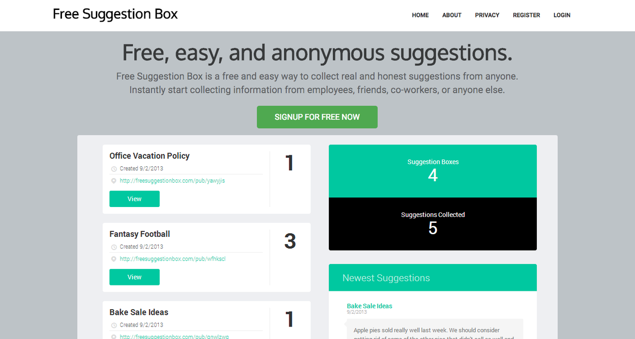 mailbox open office culture tool Free Suggestion Box